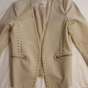 Michael Kors Gold Studded Blazer size 8